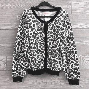Leopard print button up cardigan size 5T